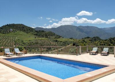 The swimming pool at El Huertecillo, El Gastor