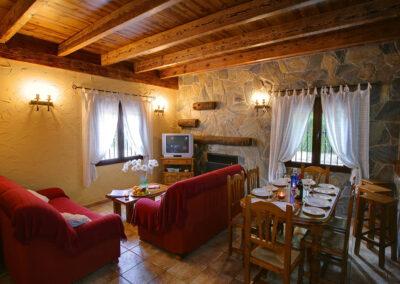 The living & dining area at El Nogal, Ronda