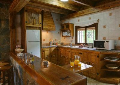 The kitchen at El Nogal, Ronda