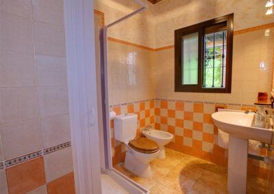 Bedroom #3 en-suite at El Nogal, Ronda