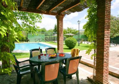 The alfresco dining area at El Nogal, Ronda