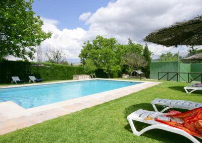 The swimming pool at El Nogal, Ronda