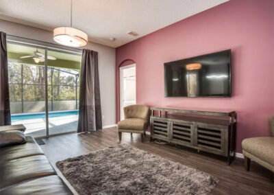 The second living area at Emerald Island Resort 13, Kissimmee