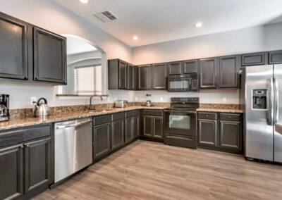 The kitchen at Emerald Island Resort 13, Kissimmee