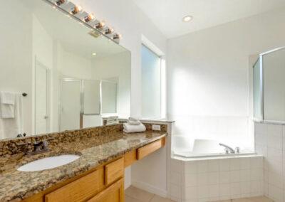 Bedroom #1 en-suite at Emerald Island Resort 13, Kissimmee