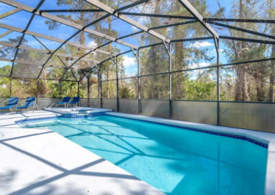 The swimming pool & spillover tub at Emerald Island Resort 13, Kissimmee