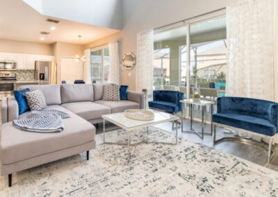 The living area at Emerald Island Resort 18, Kissimmee