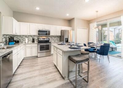 The kitchen at Emerald Island Resort 18, Kissimmee