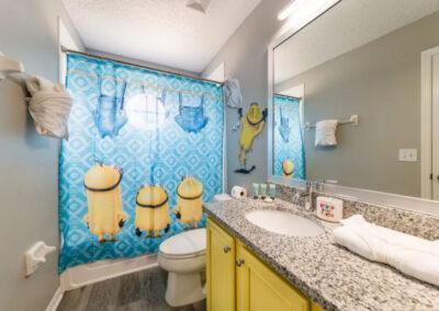 Bedroom #2 adjacent bathroom at Emerald Island Resort 18, Kissimmee