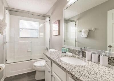 Bedroom #3 adjacent bathroom at Emerald Island Resort 18, Kissimmee