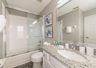 Bedroom #4 & #5 adjacent bathroom at Emerald Island Resort 18, Kissimmee