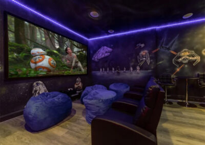The home theatre room at Emerald Island Resort 18, Kissimmee