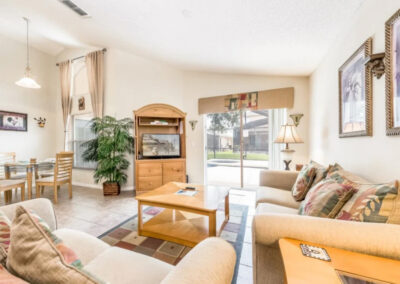The living area at Emerald Island Resort 25, Kissimmee, Orlando