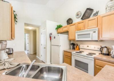 The kitchen at Emerald Island Resort 25, Kissimmee, Orlando