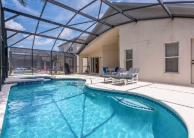 The swimming pool & patio at Emerald Island Resort 25, Kissimmee, Orlando