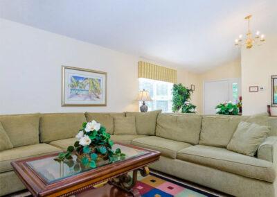 The living area at Emerald Island Resort 58, Kissimmee, Orlando