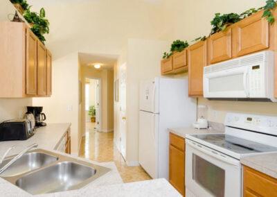 The kitchen at Emerald Island Resort 58, Kissimmee, Orlando