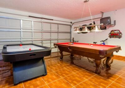 The games room at Emerald Island Resort 58, Kissimmee, Orlando