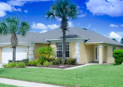Emerald Island Resort 58, Kissimmee is a smart four bed, three bath villa ideal for up to eight guests. The spacious home includes a games room & private pool with spillover spa. Just six miles from Disney, the resort has pools, nature trails, gym, games arcade & Tiki bar.