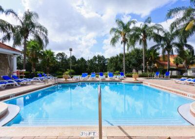 One of two resort swimming pools at Emerald Island Resort, Kissimmee, Orlando