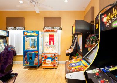 The children's arcade games room at Emerald Island Resort, Kissimmee, Orlando