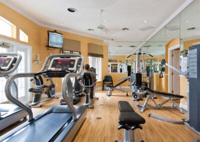 The fitness centre at Emerald Island Resort, Kissimmee, Orlando