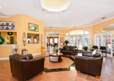 The clubhouse lounge at Emerald Island Resort, Kissimmee, Orlando