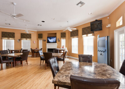 The clubhouse restaurant at Emerald Island Resort, Kissimmee, Orlando
