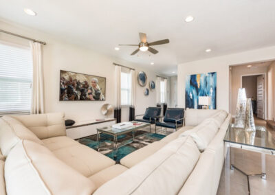 The living area at Encore Resort 394, Kissimmee