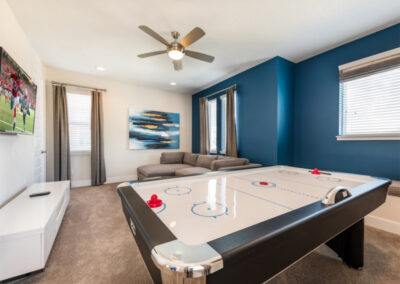 The well equipped games & TV room at Encore Resort 394, Kissimmee
