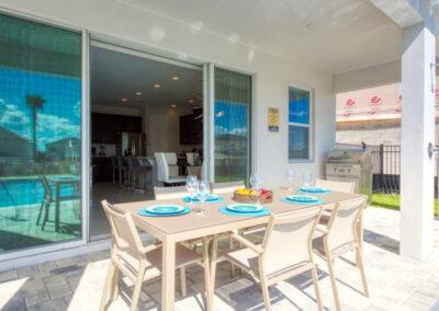 The lanai & alfresco dining area at Encore Resort 394, Kissimmee