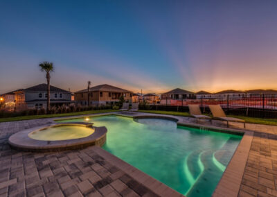 The swimming pool & spillover tub at Encore Resort 394, Kissimmee