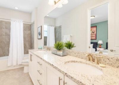 Bedroom #3 & #4 Jack 'n Jill bathroom at Encore Resort 550, Kissimmee