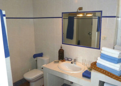 The bathroom at Finca Lomas de Tienda, Villanueva de la Concepción