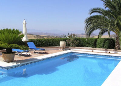 The swimming pool & countryside views at Finca Lomas de Tienda, Villanueva de la Concepción