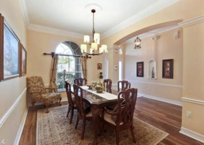The dining area at Formosa Gardens 50, Kissimmee, Florida
