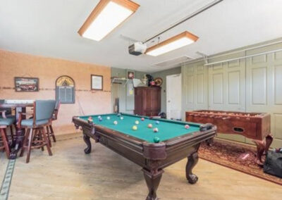 The games room at Formosa Gardens 50, Kissimmee, Florida