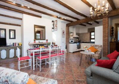 The living area at Hacienda Los Olivos, Ronda
