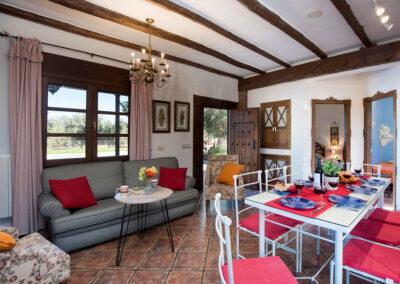 The living & dining area at Hacienda Los Olivos, Ronda