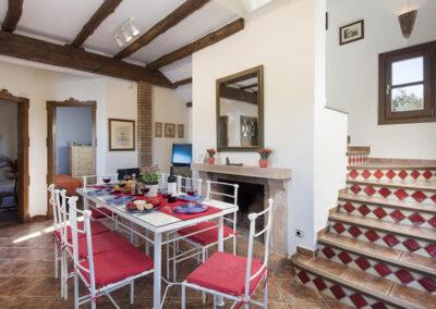 The dining area at Hacienda Los Olivos, Ronda