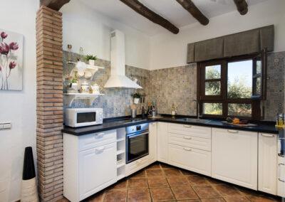 The kitchen at Hacienda Los Olivos, Ronda