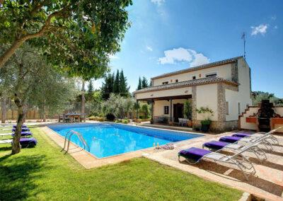 The swimming pool at Hacienda Los Olivos, Ronda