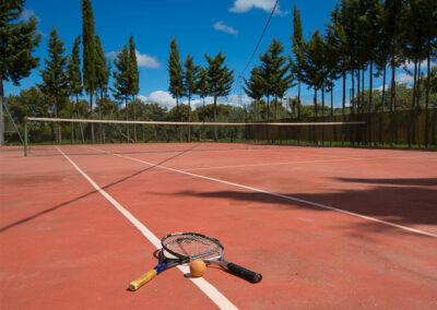 The tennis court at Hacienda Los Olivos, Ronda