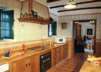 The kitchen at Huerta Atienza, Montecorto