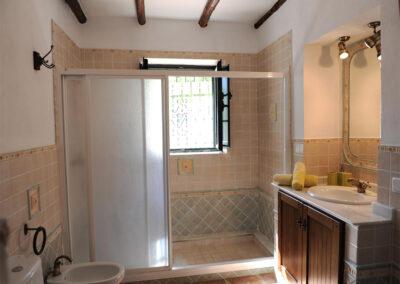 The ground floor shower room at Huerta Atienza, Montecorto