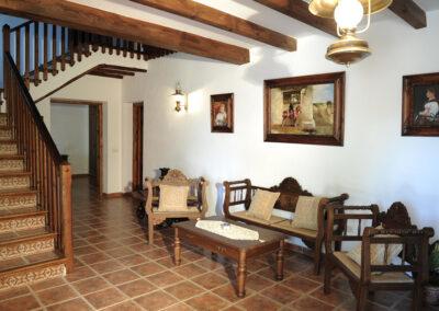 The entrance area at Huerta Atienza, Montecorto