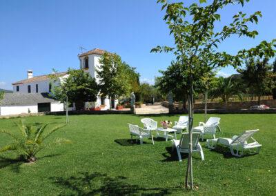 The garden at Huerta Atienza, Montecorto