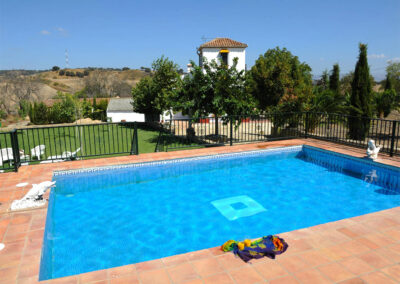 The swimming pool at Huerta Atienza, Montecorto