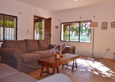 The living area of villa #1 at La Abadesa, Nueva Andalucía