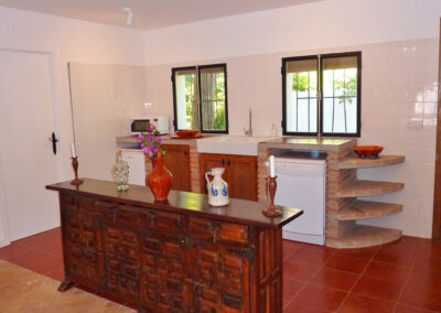 The kitchen of villa #1 at La Abadesa, Nueva Andalucía